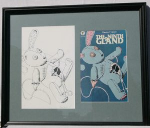 RENEE FRENCH original art, NINTH GLAND cover, 7.5x11.5,1997, aka Rainy Dohaney