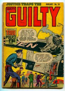 JUSTICE TRAPS THE GUILTY #34 1952-HEADLINE PUBLISHING-G