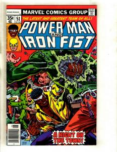 Power Man & Iron Fist # 51 VF/NM Marvel Comic Book Defenders Heroes For Hire GK1