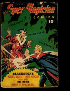 Super Magician Comics Vol. # 4 # 4 VG- 1945 Golden Age Comic Book Demons NE3