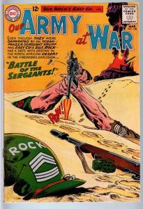 OUR ARMY AT WAR #128 1963-DC WAR COMIC-ORIGIN OF SGT. ROCK-FN FN