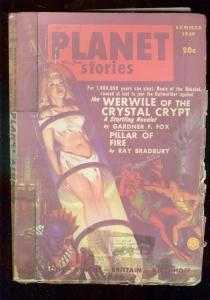 PLANET STORIES PULP-SUM 1948-GOOD GIRL ART COVER-SCI FI FR