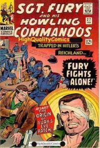 SGT FURY #26-28,  VF, WWII, Origin Eye Patch, 1st Eric Koenig