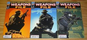 Weapons File #1-3 VF/NM definitive photo reference guide for weapons  all angles