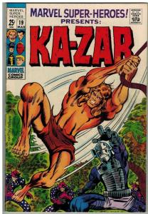 MARVEL SUPER HEROES 19 VG-F Mar. 1969 Kazar