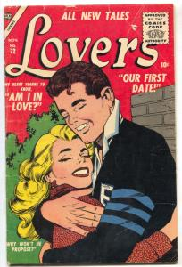 Lovers #72 1955- Atlas Romance Comic -Our First Date VG