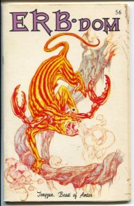 ERB-dom #56 1972-early Burroughs & Tarzan fanzine-buy/sell ads-PulpCont-VG