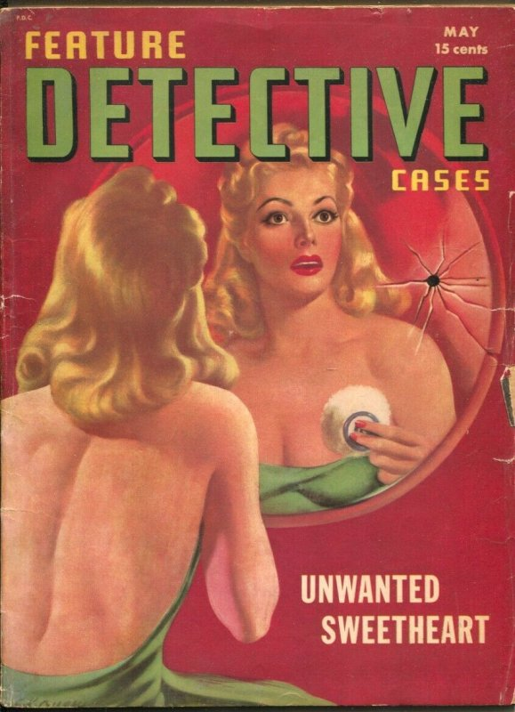 Feature Detective Stories-5/1941-Cover painting by Earle K. Bergey-violent cr...