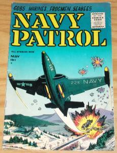 Navy Patrol #1 VG+ may 1955 - golden age key war - gobs - marines - frogmen