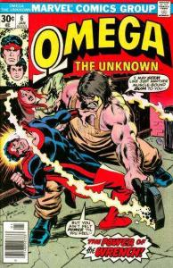 Omega the Unknown (1976 series) #6, Fine+ (Stock photo)