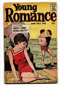 YOUNG ROMANCE #118 1962-WILD LOVE COMIC-SWIM SUIT COVER G