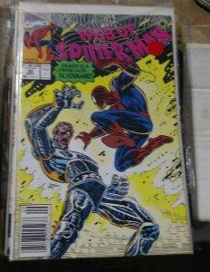 Web of spider-man # 80  1991 marvel  death of silvermane  black cat mary jane