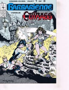 Lot Of 2 Comic Books Harrier Barbarienne Vs Cuirass #6 and Balance Power #1 ON8