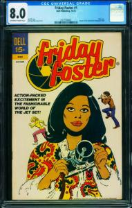 Friday Foster #1 CGC 8.0-Black Female heroine- 1972-0317538001
