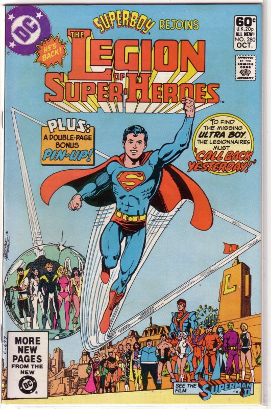 Legion of Super-Heroes (vol. 2, 1980) #280 FN Thomas/Janes, Perez cover