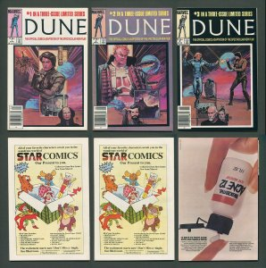 Dune #1  #2  #3 (Complete Set)  NM  Newsstand   1985