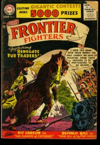 FRONTIER FIGHTERS #6-DAVY CROCKETT COVER AND STORY-1956 VG-