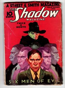 SHADOW 1933 February 15 classic cover-STREET AND SMITH-RARE PULP vg