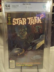 Star Trek #51  CBCS 9.4  NM  OW/W {GOLD KEY} 1978  Painted Cover