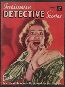 Intimate Detective Stories #1 3/1940-1st issue-violent-lurid-pulp thrills-FN