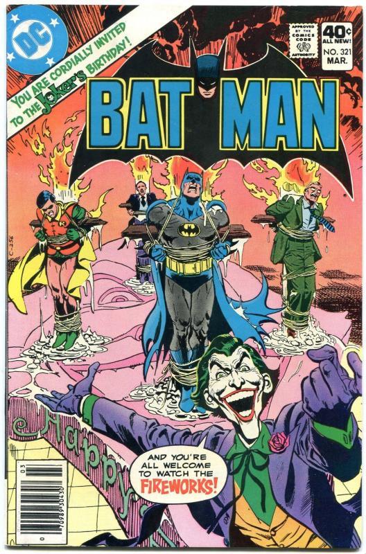 Batman 321 1980 Bronze Age Dc Comics Joker Birthday Card Vf