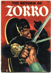 RETURN OF ZORRO-DELL FOUR COLOR #425-1952-JOHNSTON McCULLEY PULP STORY