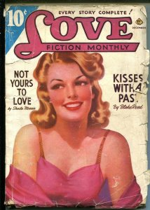 Love Fiction Monthly 12/1941-Ace-pin-up girl cover-pulp romance fiction-G/VG