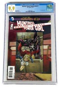 CGC 9.9 WORLD'S FINEST FUTURES END #1 SINGLE HIGHEST GRADED HUNTRESS POWER GIRL