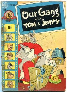 OUR GANG #50 1948-DELL COMICS-TOM & JERRY COVER M-G-M f/g