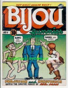 BIJOU FUNNIES #4, VG+ to FN, Underground, 1970, Robert Crumb, 1st