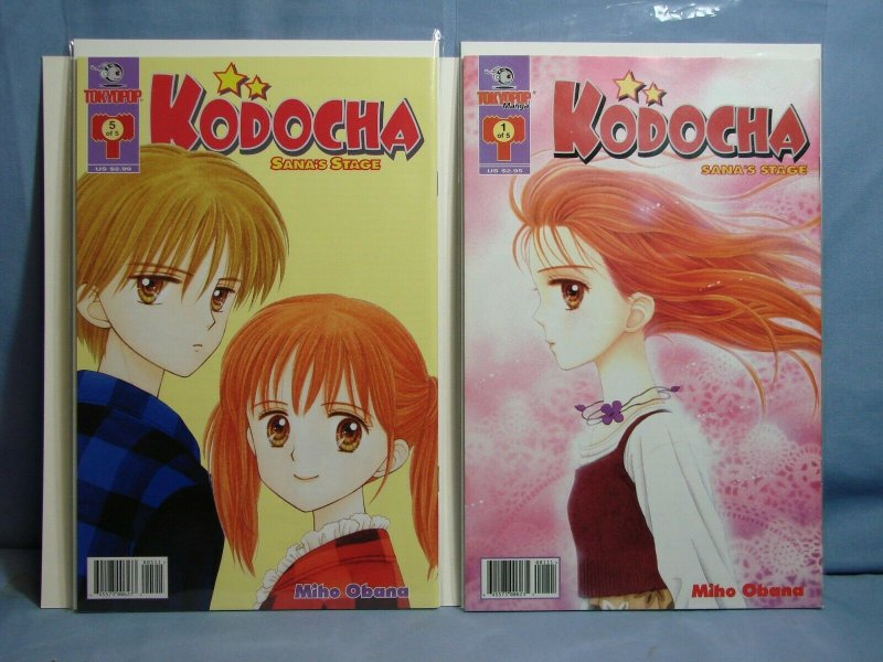 KODOCHA SANA'S STAGE ISSUES 1 2 4 5 TOKYOPOP MANGA 2002 NICE COMIC BOOKS L@@K