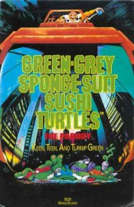 Green-Gray Sponge-Suit Sushi Turtles #1, NM (Stock photo)