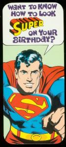 NEAL ADAMS SUPERMAN BIRTHDAY CARD #15 1978 NM