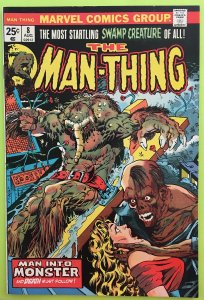 MAN-THING 8 THE GIFT OF DEATH MARVEL 1974