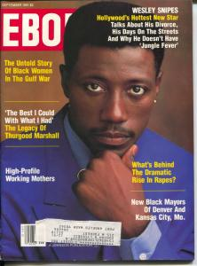 Ebony 9/1991-Wesley Snipes-Thurgood Marshall-Black Women In Gulf War-FN