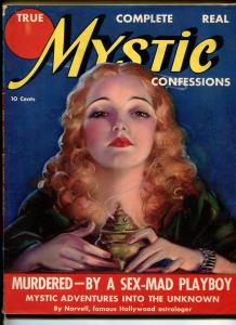TRUE MYSTIC CONFESSIONS #1-1937-1ST ISSUE-DOPE ORGIES-EXPLOITATION-NUDIST-fn