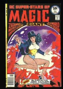 DC Super Stars #11 VF- 7.5 1st Solo Zatanna Cover!