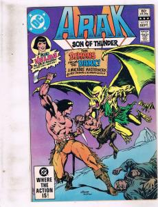 Lot of 2 Arak Son of Thunder DC Comic Books # 13 14 BH53