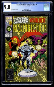 Silver Surfer/Warlock: Resurrection #1 CGC NM/M 9.8 White Pages