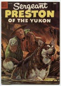 Sergeant Preston #16 1955-Dell-RCMP stories-Yukon King-VF