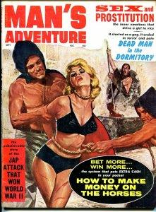 Man's Adventures 9/1962 -bondage-torture-lingerie-pulp thrills-WWII-VG