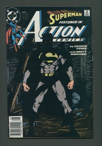Action Comics (Superman) #644  / 9.2 NM-   Newsstand  August 1989