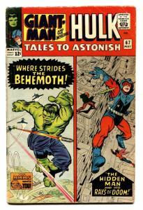 TALES TO ASTONISH #67 COMIC BOOK -1965-Marvel-HULK/GIANT MAN VG