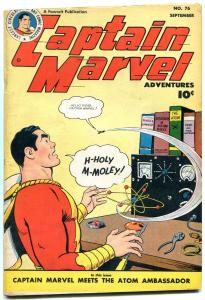 CAPTAIN MARVEL ADVENTURES #76 1947-SPECIAL ATOMIC ISSUE-  VF