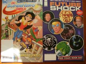 2 Near-Mint FCBD Comic-DC SUPER HERO GIRLS #1 (2017) & Image FUTURE SHOCK (2006)