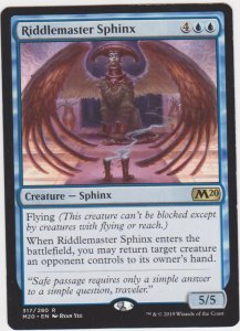 Magic the Gathering: Core Set 2020 - Riddlemaster Sphinx