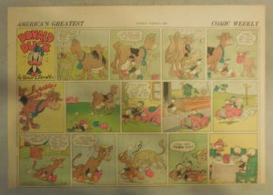 Donald Duck Sunday Page by Walt Disney from 3/8/1942 Half Page Size