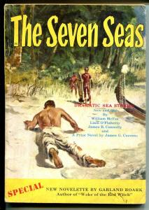 Seven Seas #1 Winter 1953-Barye Phillips cover-1st issue-pulp adventure-VG