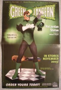 GREEN LANTERN STATUE Promo poster, 17x11, 2003, Unused, more Promos in store