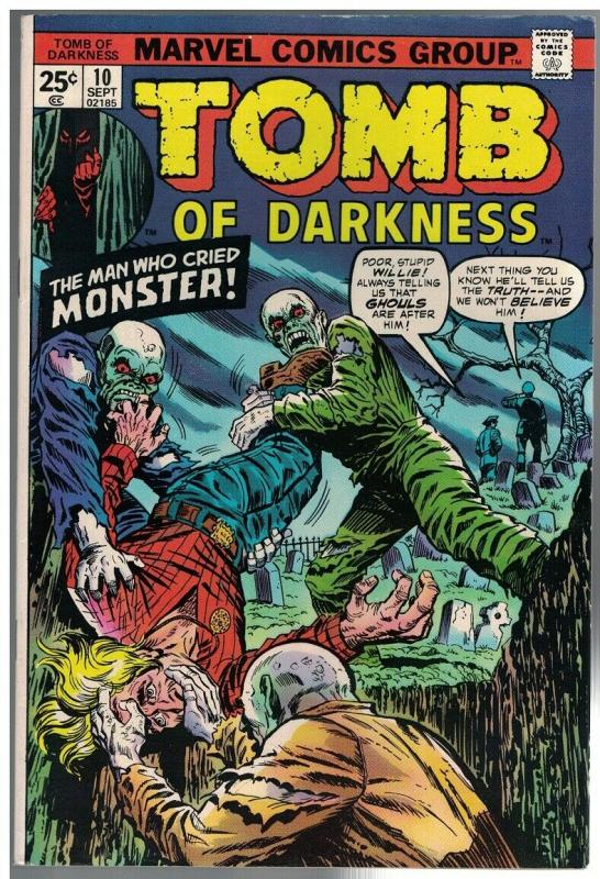 TOMB OF DARKNESS 10 F-VF  Sept. 1974